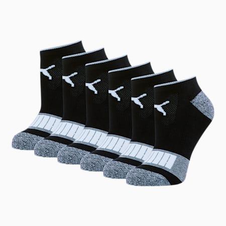Women's Low Cut Socks [6 Pack], BLACK / WHITE, small